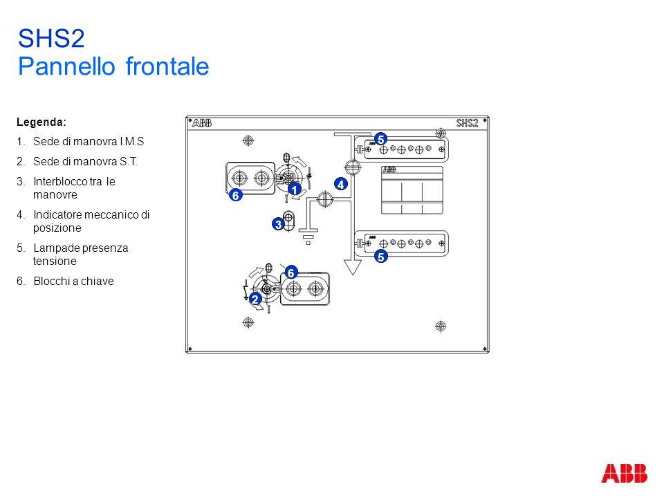 SHS2 Pannello frontale 4 1 3 5 6 2 Legenda: Sede di manovra I.M.S