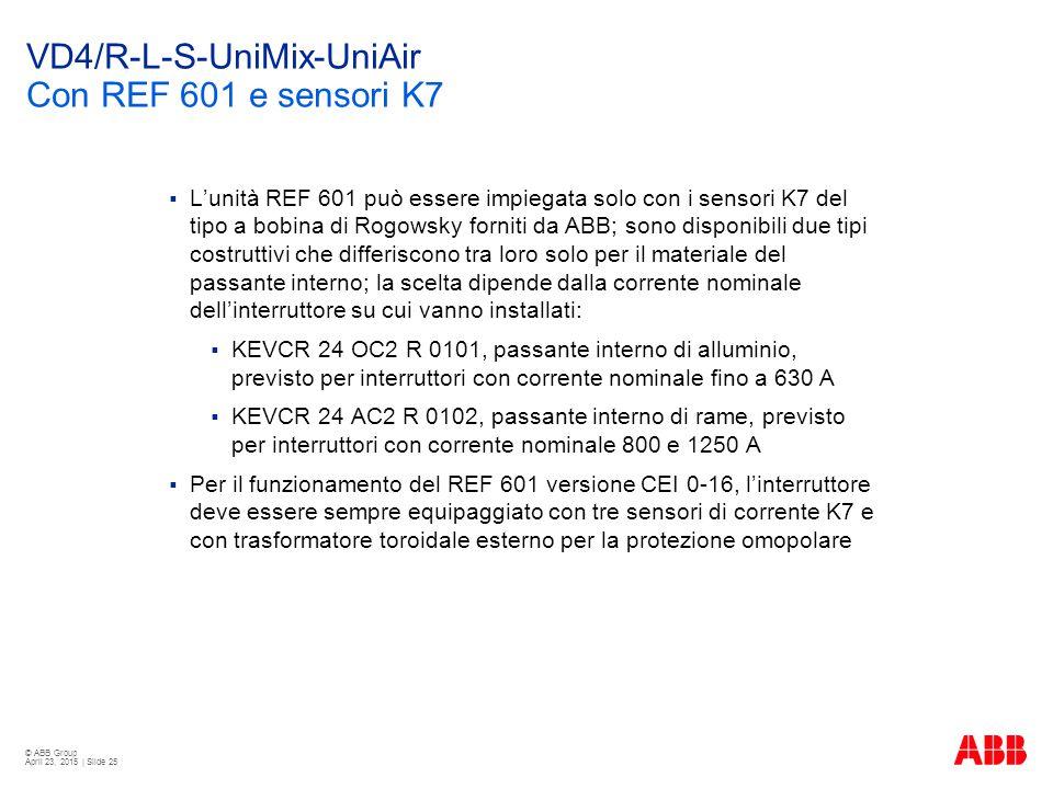 VD4/R-L-S-UniMix-UniAir Con REF 601 e sensori K7
