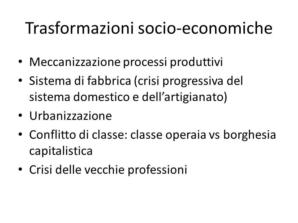 Trasformazioni socio-economiche