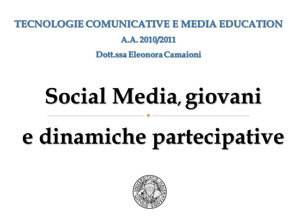 Social Media, giovani e dinamiche partecipative