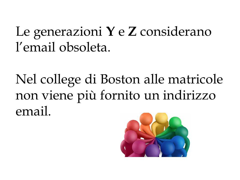 Le generazioni Y e Z considerano