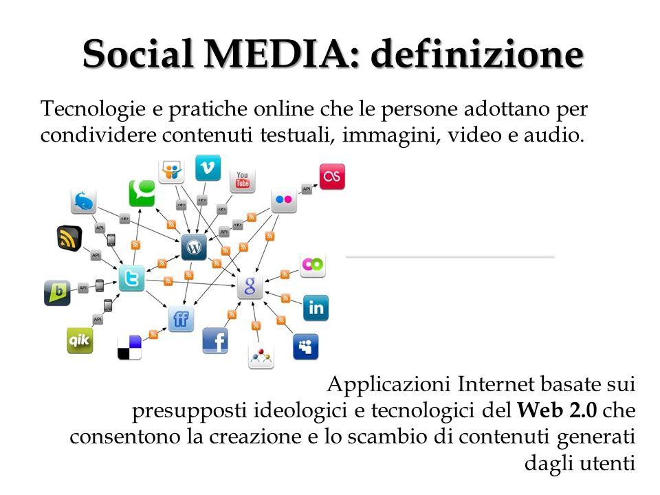 Social MEDIA: definizione