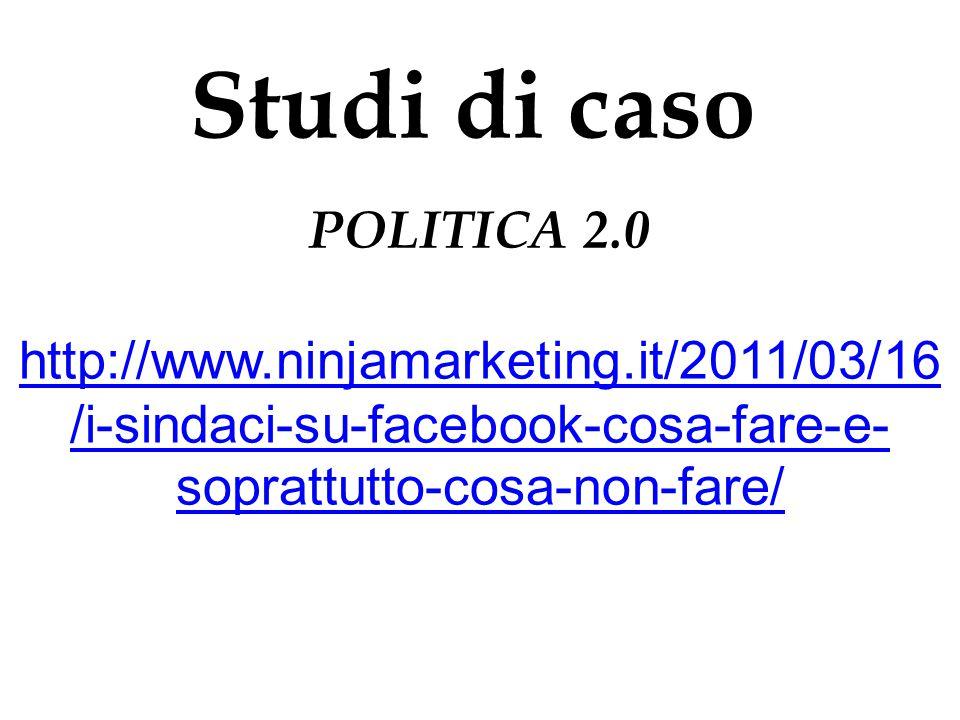 Studi di caso POLITICA 2.0.