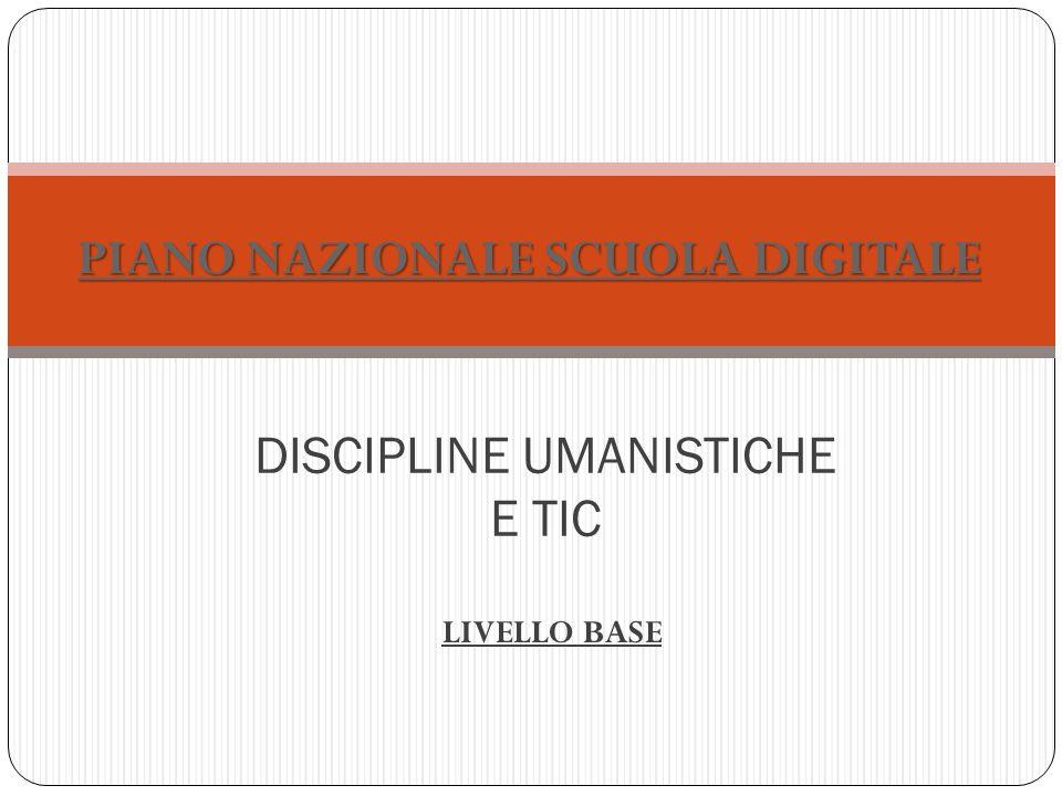 DISCIPLINE UMANISTICHE E TIC