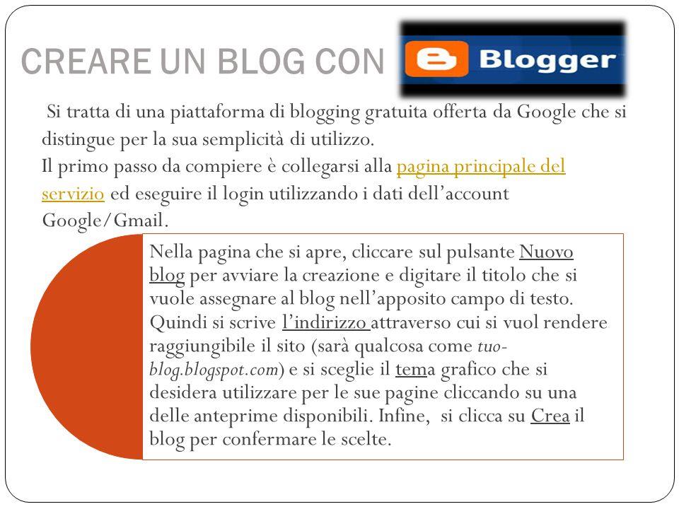 CREARE UN BLOG CON Si tratta di una piattaforma di blogging gratuita offerta da Google che si distingue per la sua semplicità di utilizzo.