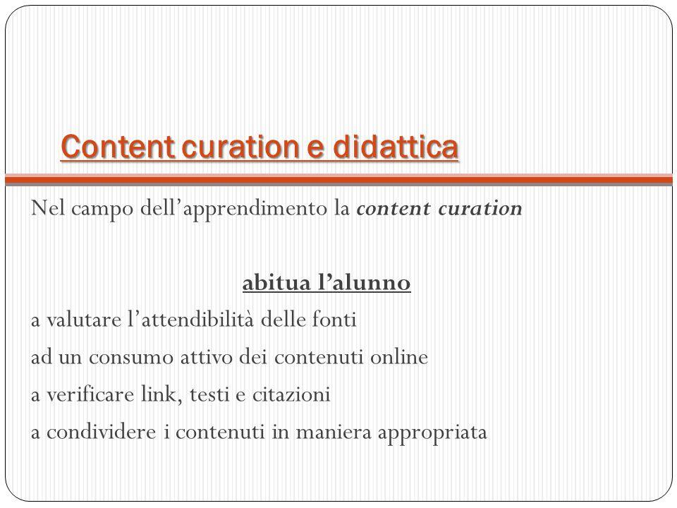 Content curation e didattica