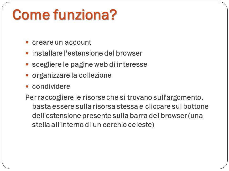 Come funziona creare un account installare l estensione del browser