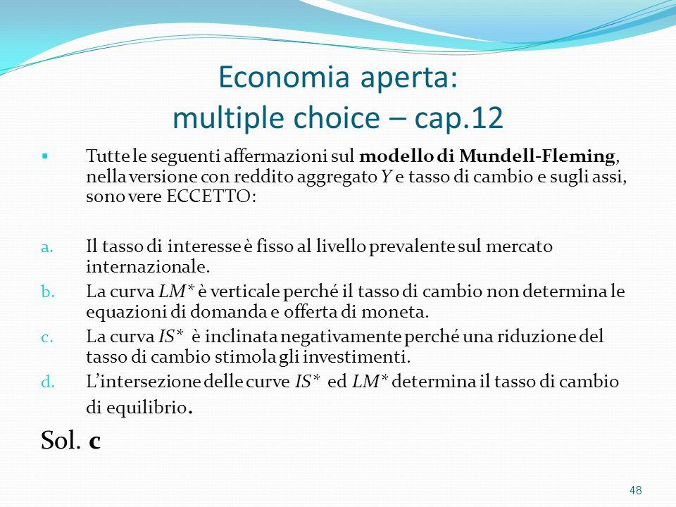 Economia aperta: multiple choice – cap.12