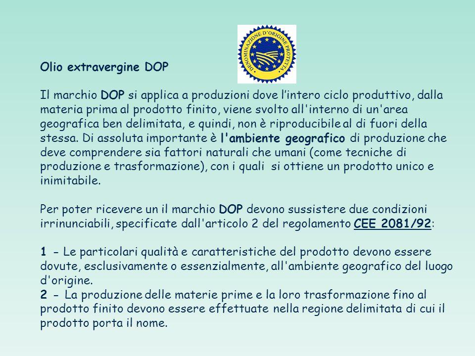 Olio extravergine DOP