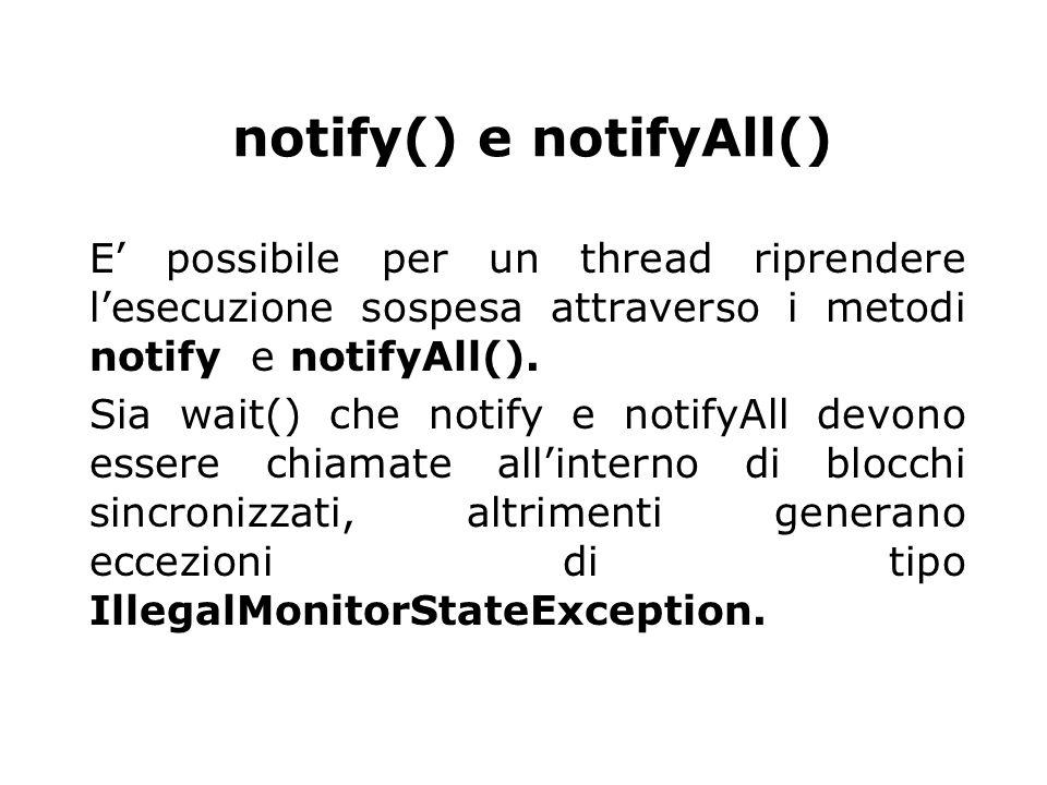 notify() e notifyAll()