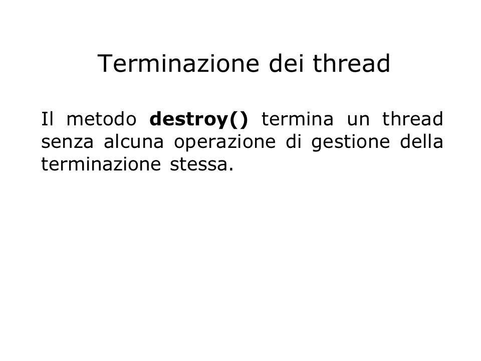 Terminazione dei thread