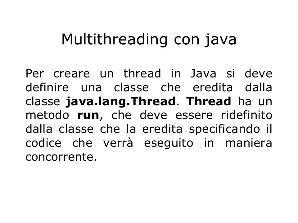 Multithreading con java