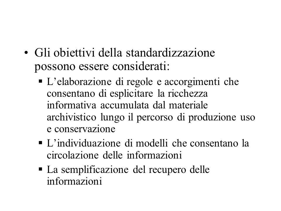 Gli obiettivi della standardizzazione possono essere considerati: