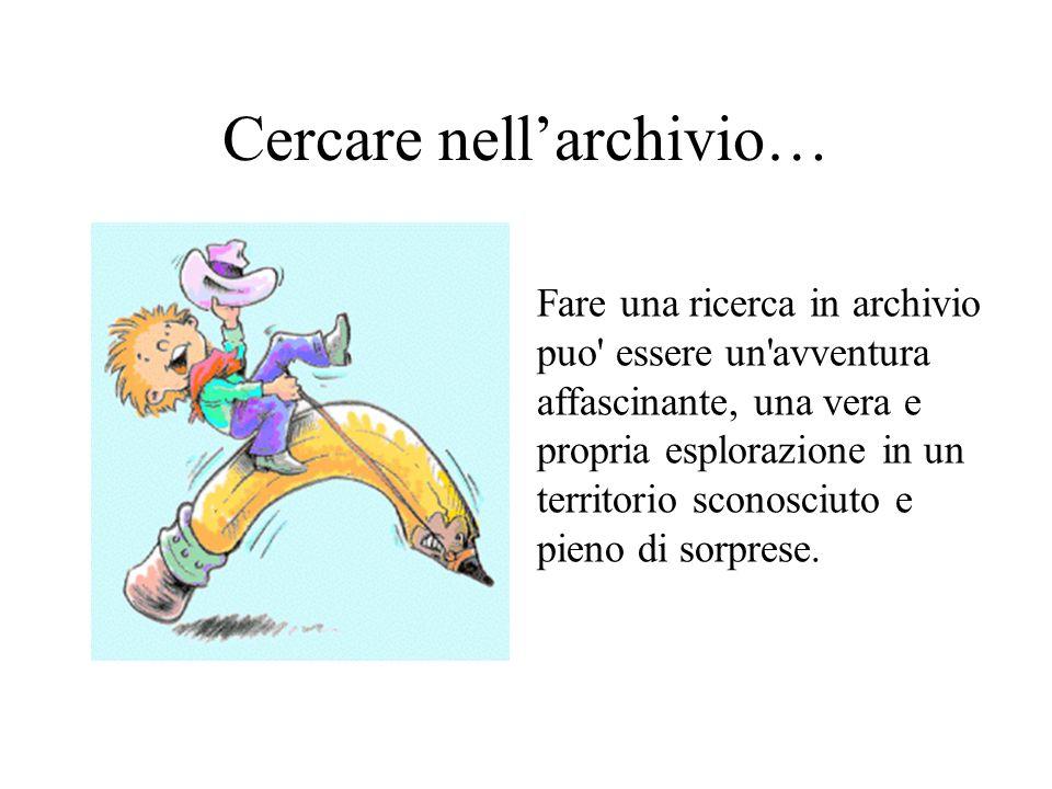 Cercare nell'archivio…