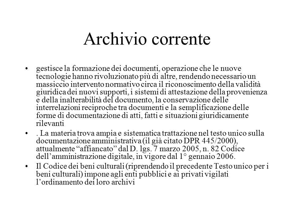 Archivio corrente