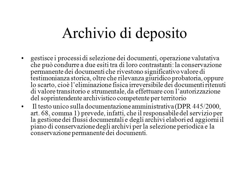 Archivio di deposito