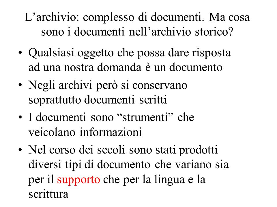 Awesome Excellent Luarchivio Complesso Di Documenti With Quanto Tempo Si  Conservano I Documenti With Quanto Tempo Tenere I Documenti With Quanto  Tempo ...