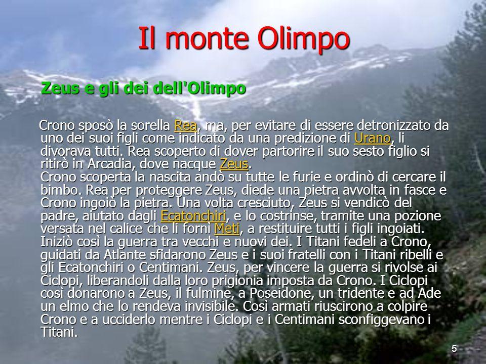 Il monte Olimpo Zeus e gli dei dell Olimpo