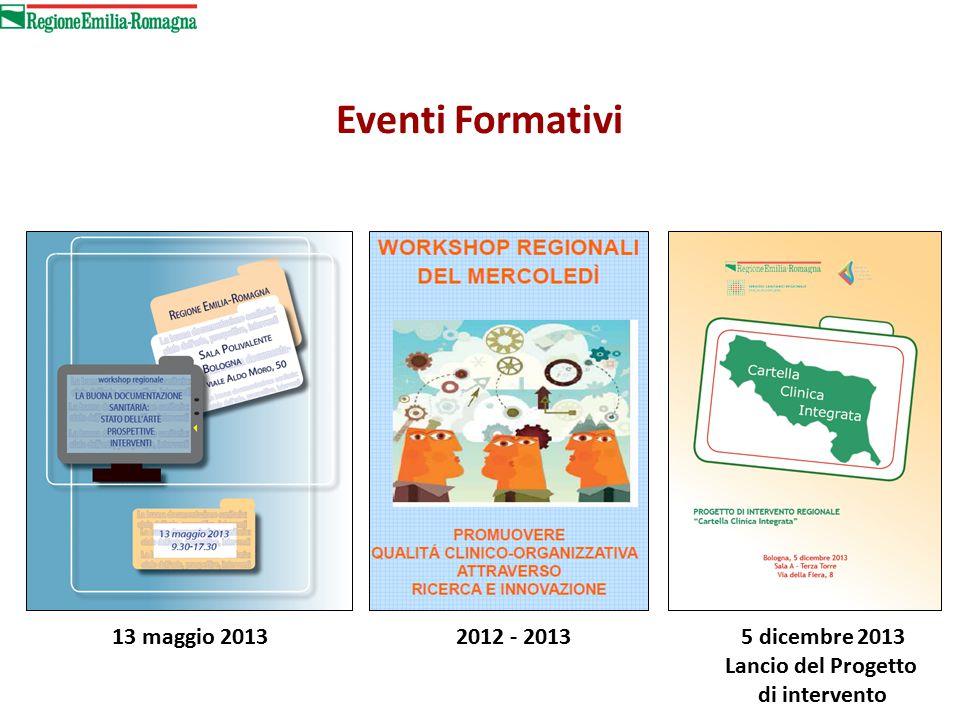 Eventi Formativi 13 maggio 2013 2012 - 2013 5 dicembre 2013