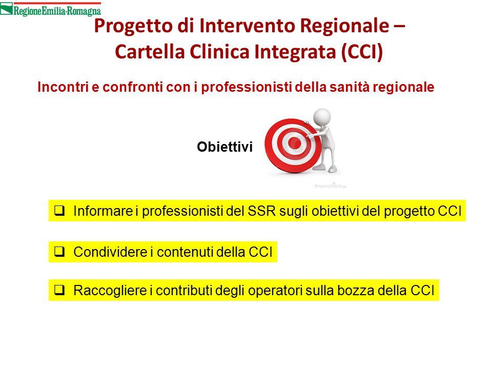 Progetto di Intervento Regionale – Cartella Clinica Integrata (CCI)