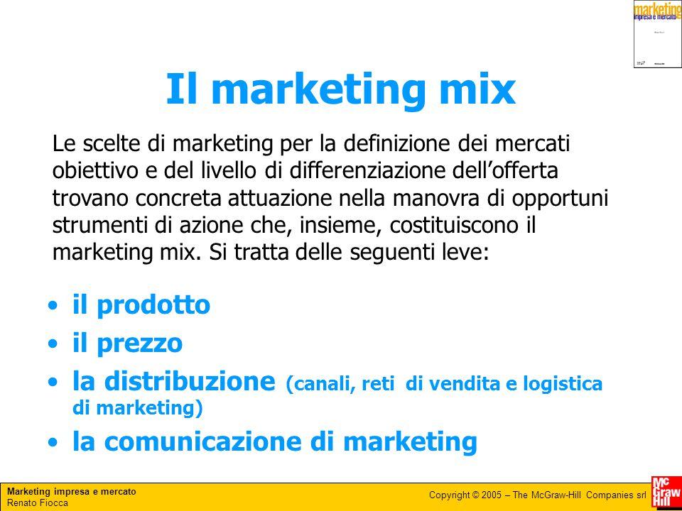 Il marketing mix il prodotto il prezzo