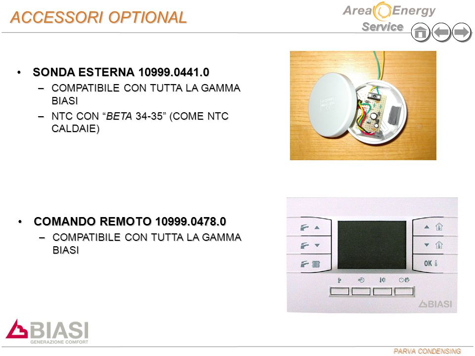 ACCESSORI OPTIONAL SONDA ESTERNA 10999.0441.0