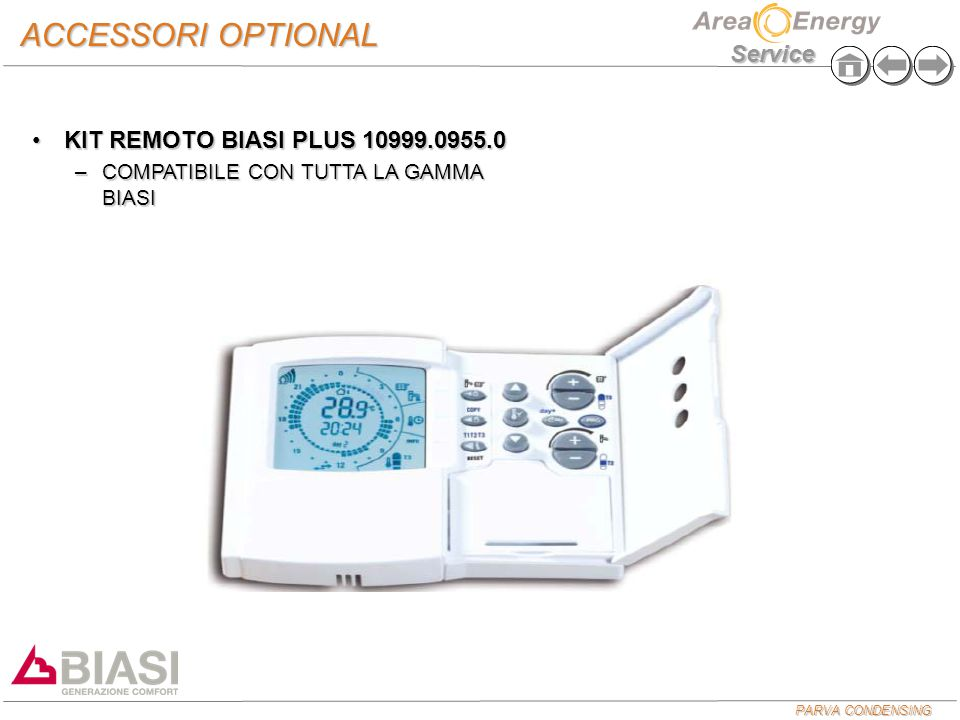 ACCESSORI OPTIONAL KIT REMOTO BIASI PLUS 10999.0955.0