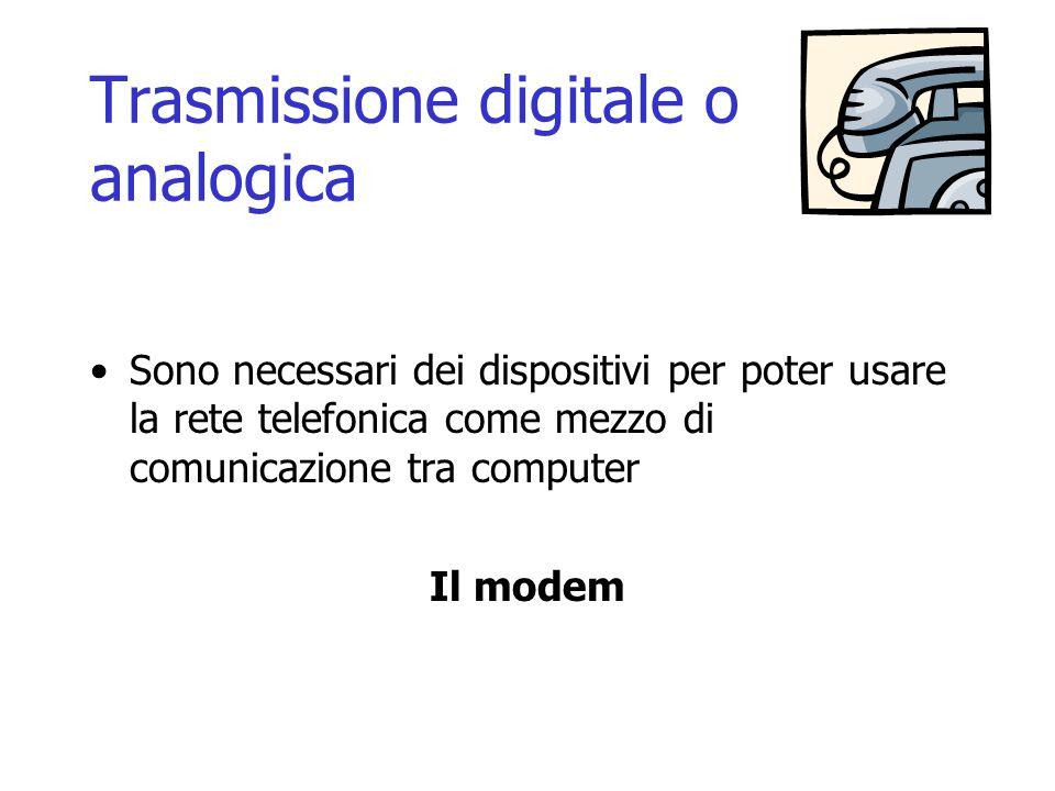 Trasmissione digitale o analogica