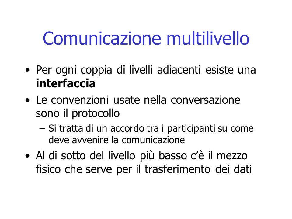Comunicazione multilivello