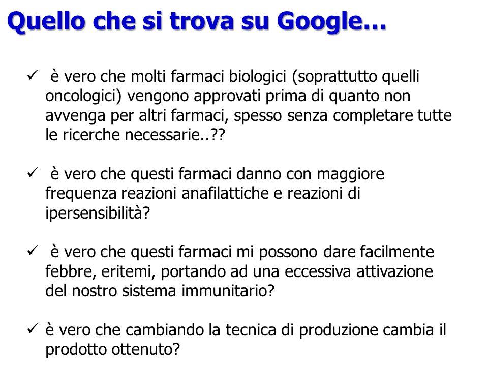 Quello che si trova su Google…