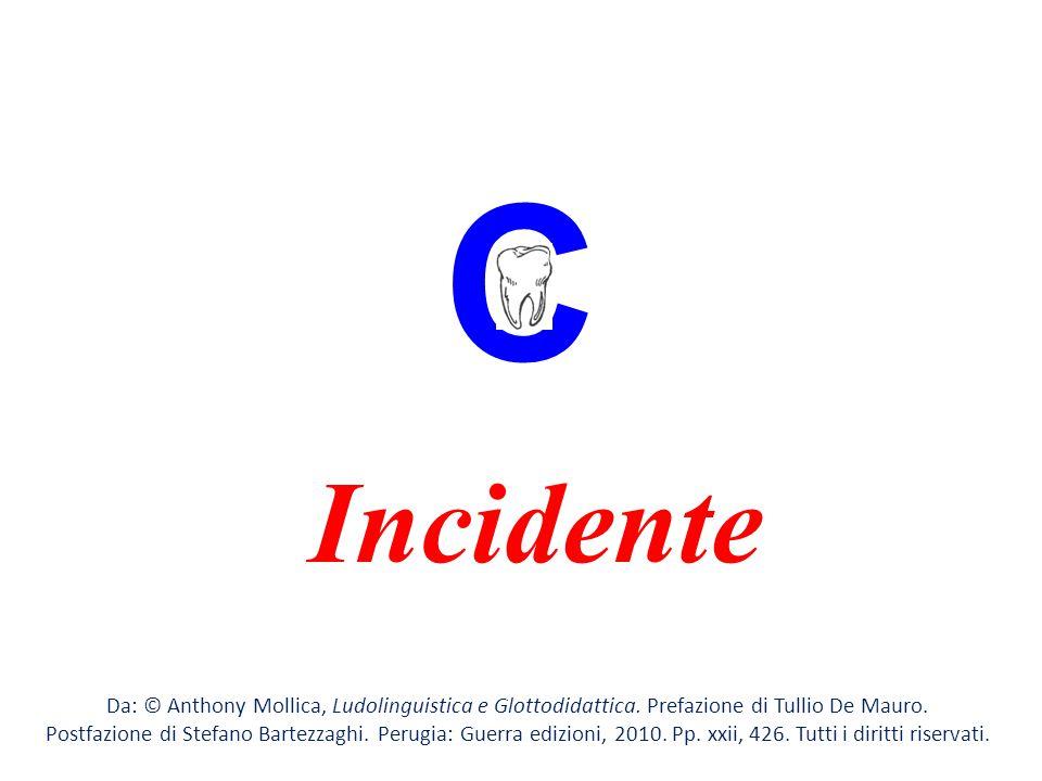 C Incidente. Da: © Anthony Mollica, Ludolinguistica e Glottodidattica. Prefazione di Tullio De Mauro.