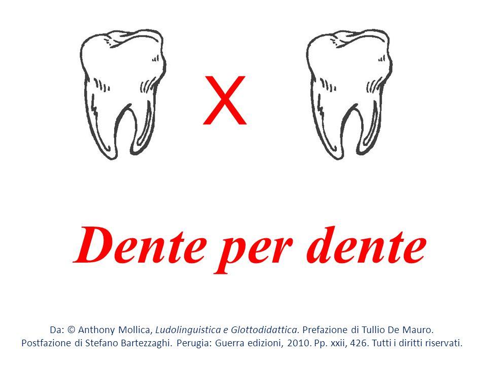 X Dente per dente. Da: © Anthony Mollica, Ludolinguistica e Glottodidattica. Prefazione di Tullio De Mauro.