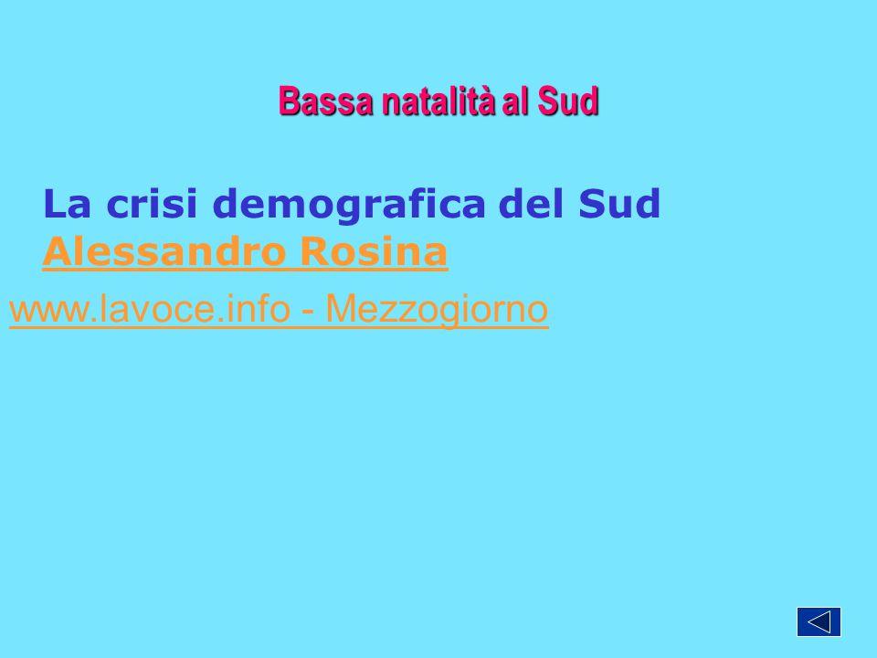 La crisi demografica del Sud Alessandro Rosina