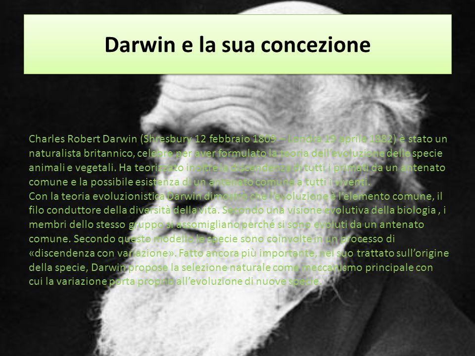 Darwin e la sua concezione