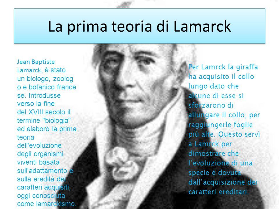 La prima teoria di Lamarck