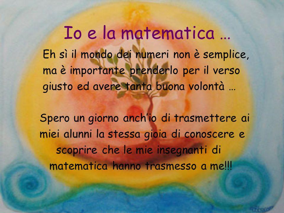 Io e la matematica … Eh sì il mondo dei numeri non è semplice,