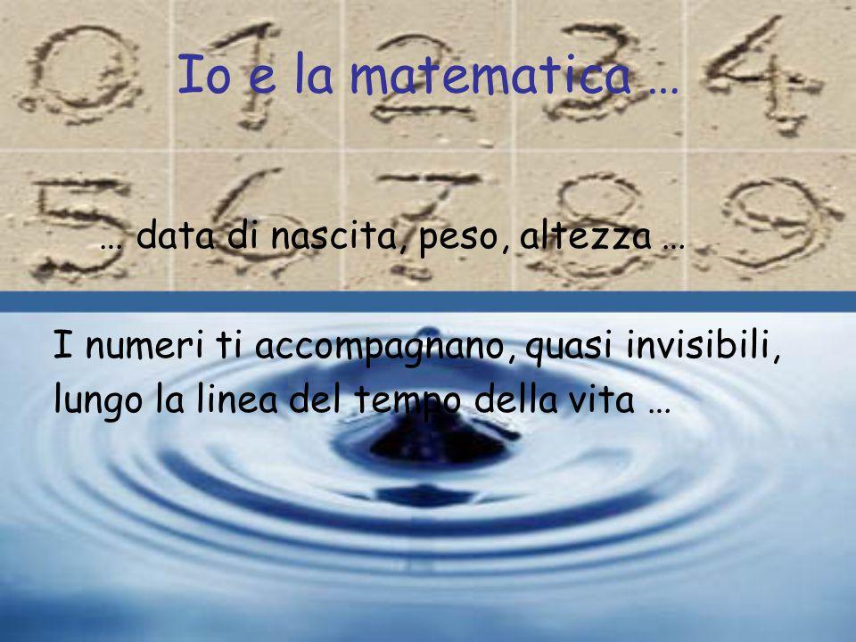Io e la matematica … … data di nascita, peso, altezza …