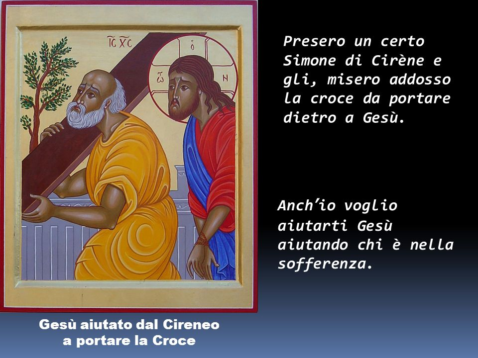 Gesù aiutato dal Cireneo