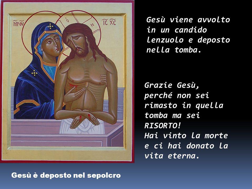 Gesù è deposto nel sepolcro