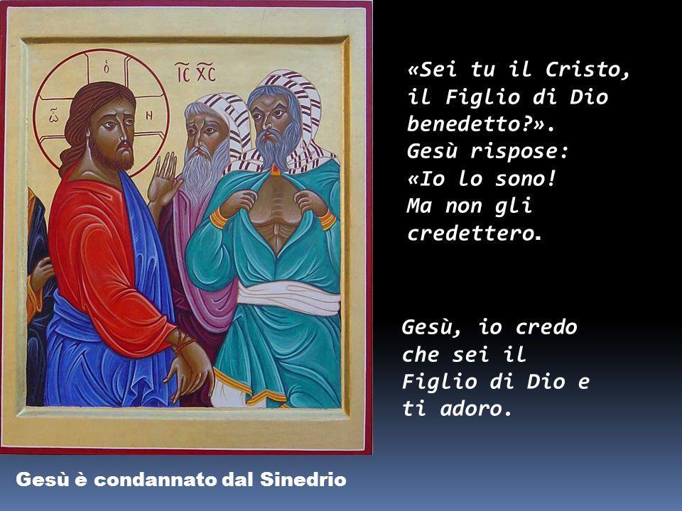 Gesù è condannato dal Sinedrio