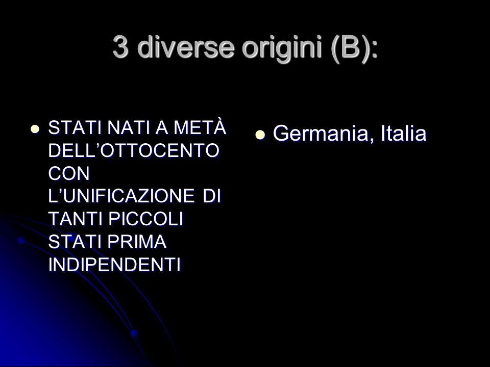 3 diverse origini (B): Germania, Italia