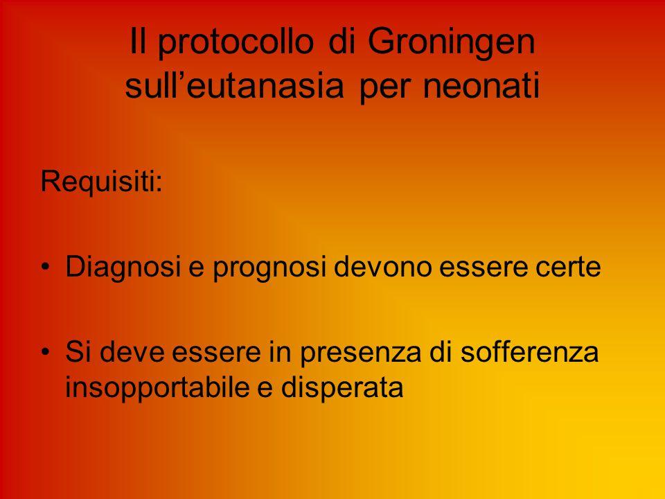 Il protocollo di Groningen sull'eutanasia per neonati