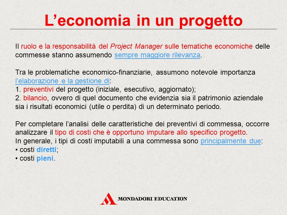 L'economia in un progetto