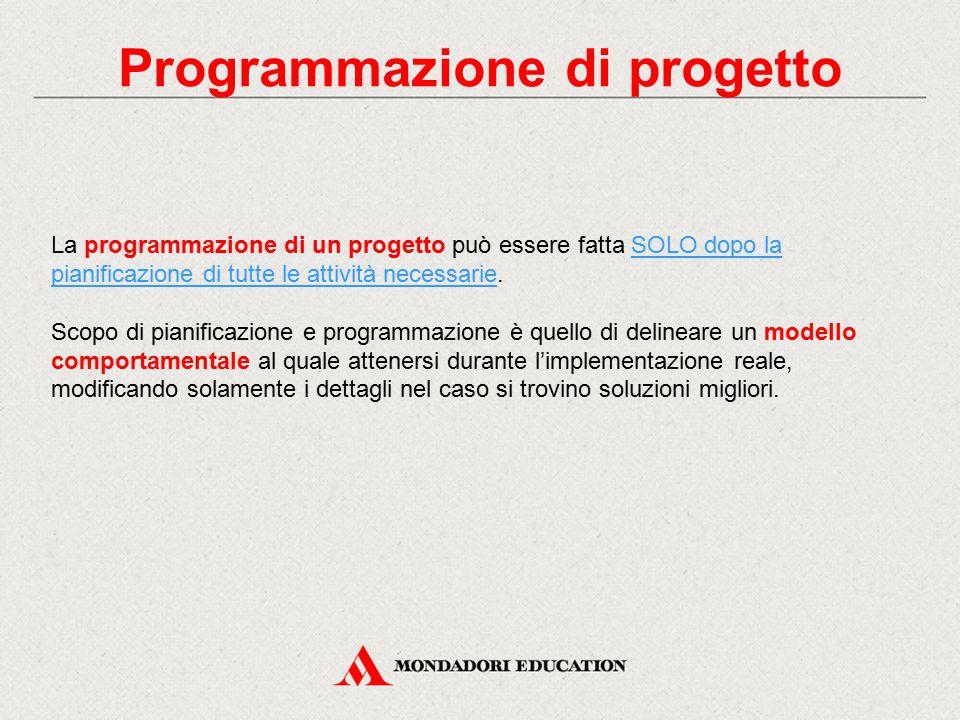 Programmazione di progetto