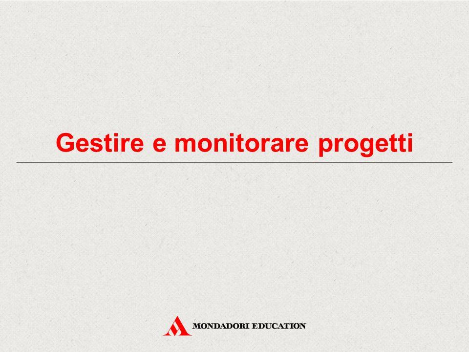 Gestire e monitorare progetti