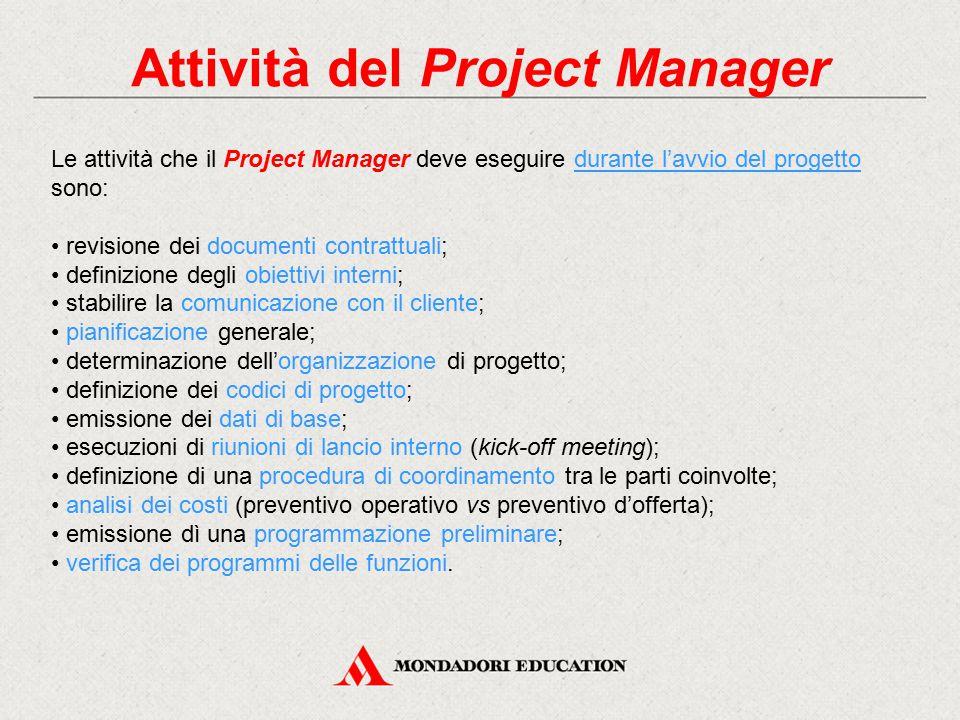 Attività del Project Manager
