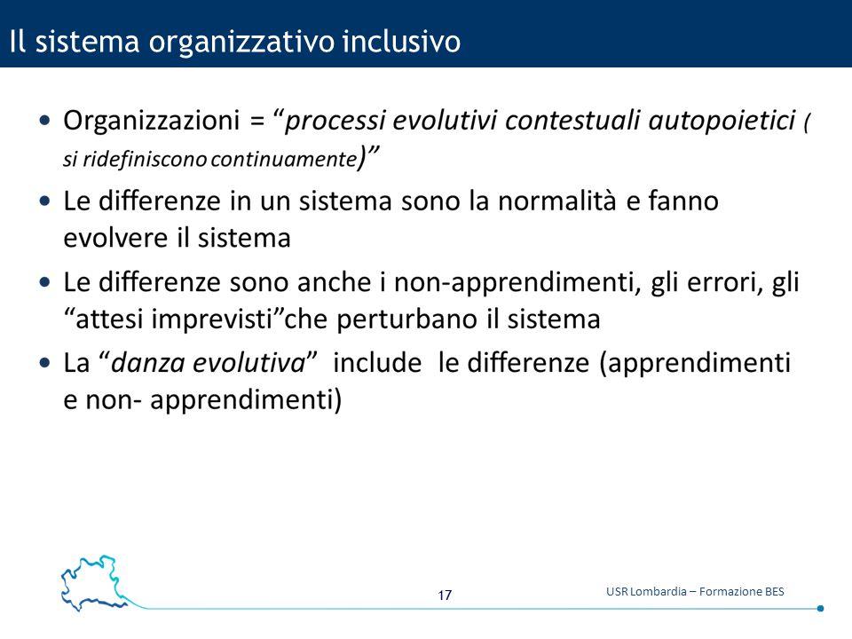 Il sistema organizzativo inclusivo