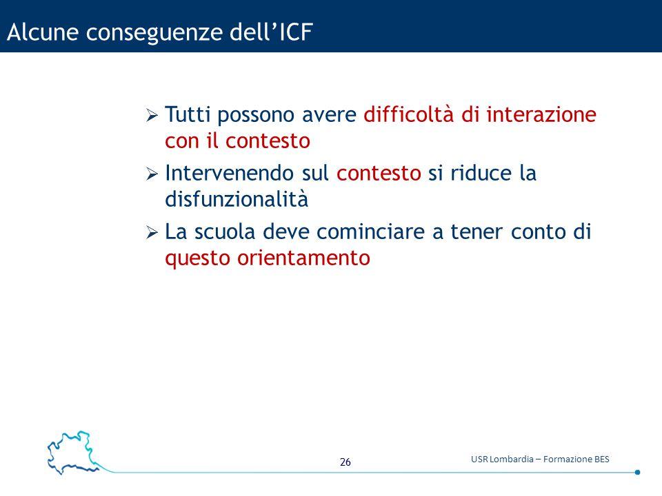 Alcune conseguenze dell'ICF
