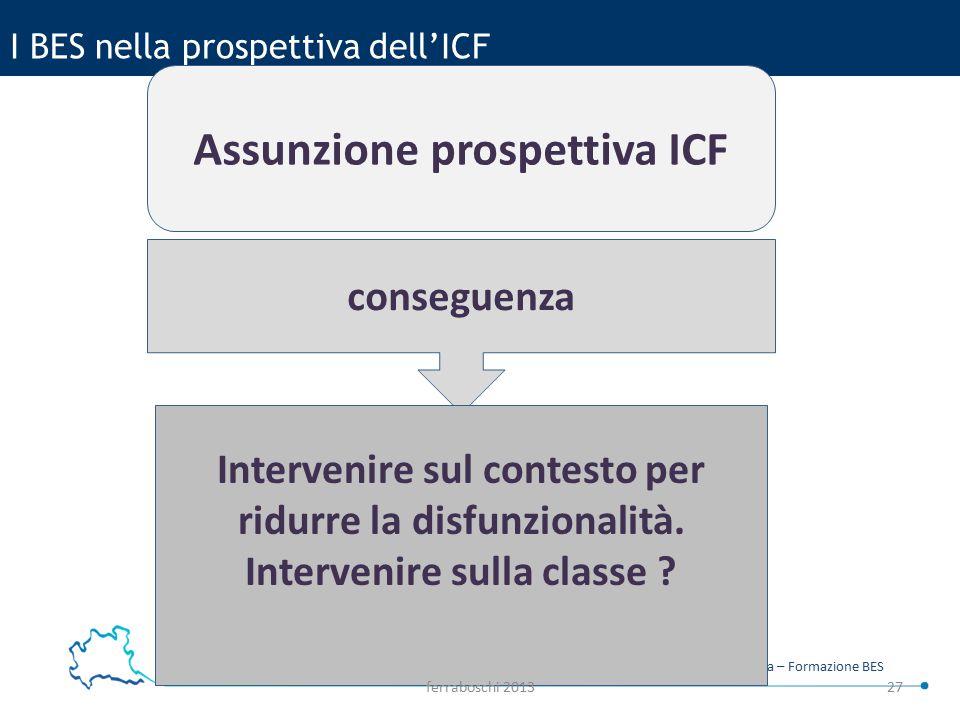 I BES nella prospettiva dell'ICF