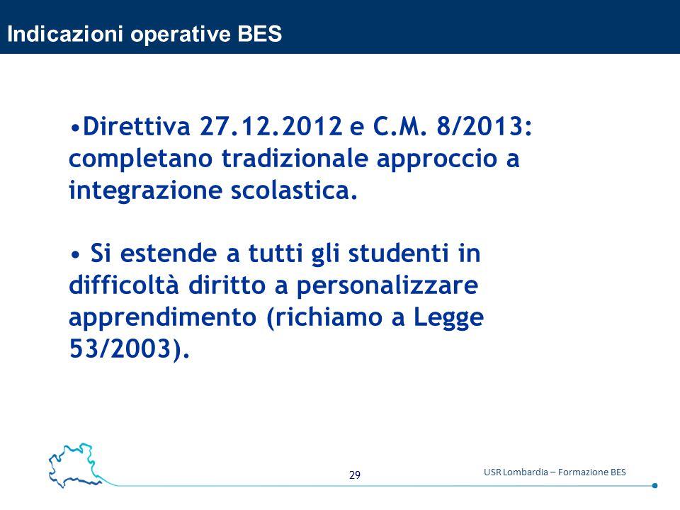 Indicazioni operative BES